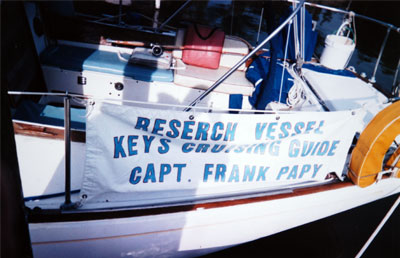 Frank's research vessel is a familiar sight around the waters of the Florida Keys.
