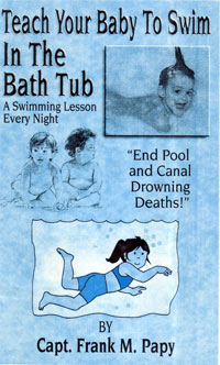 Teach your baby to swim in the bathtub